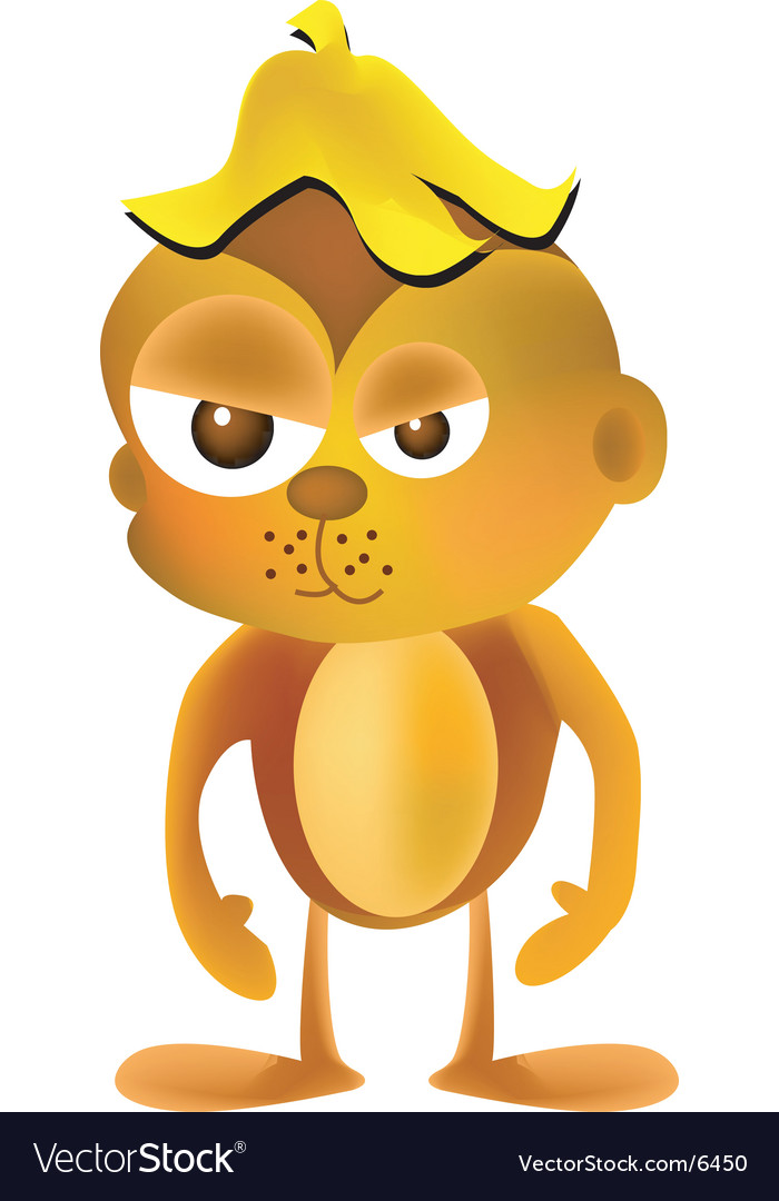 Angry monkey vector | Price: 3 Credit (USD $3)