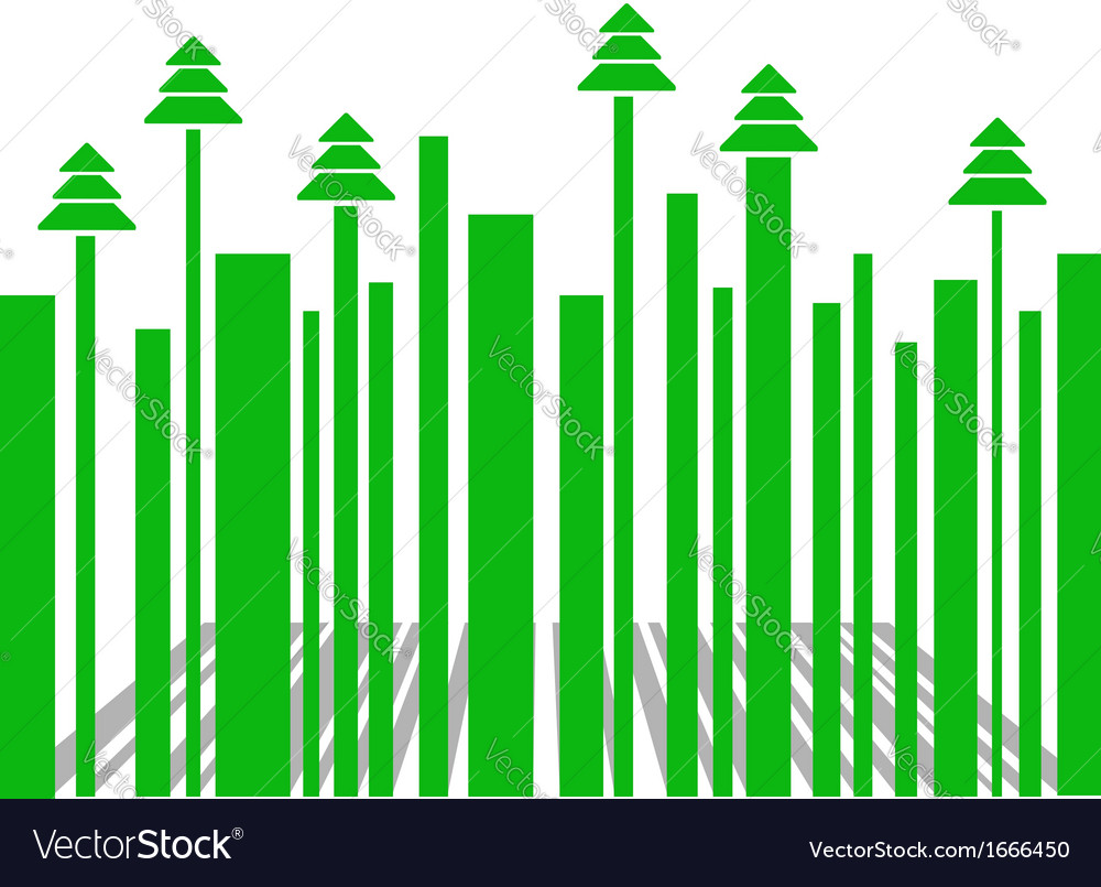 Barcode with christmas trees vector   Price: 1 Credit (USD $1)