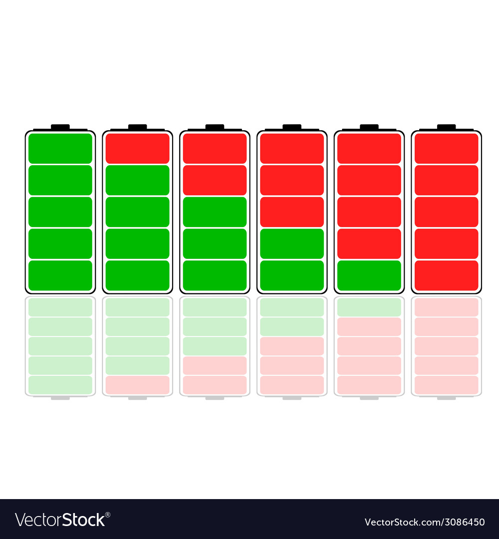 Battery charging vector | Price: 1 Credit (USD $1)