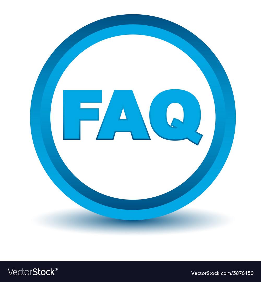 Blue faq icon vector | Price: 1 Credit (USD $1)