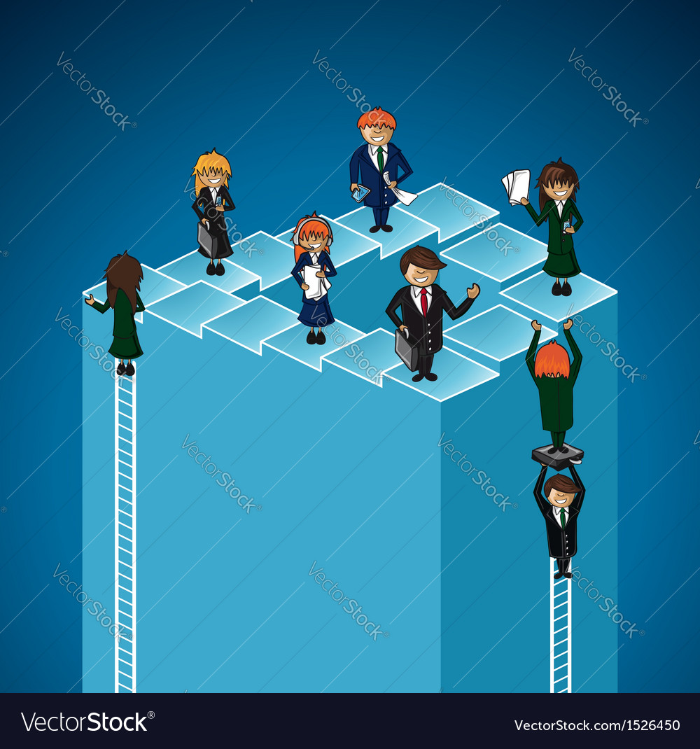 Business work group success levels people vector | Price: 1 Credit (USD $1)
