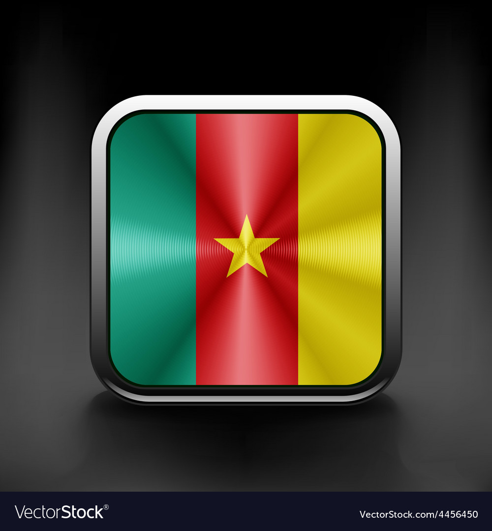 Cameroon icon flag national travel icon country vector | Price: 1 Credit (USD $1)
