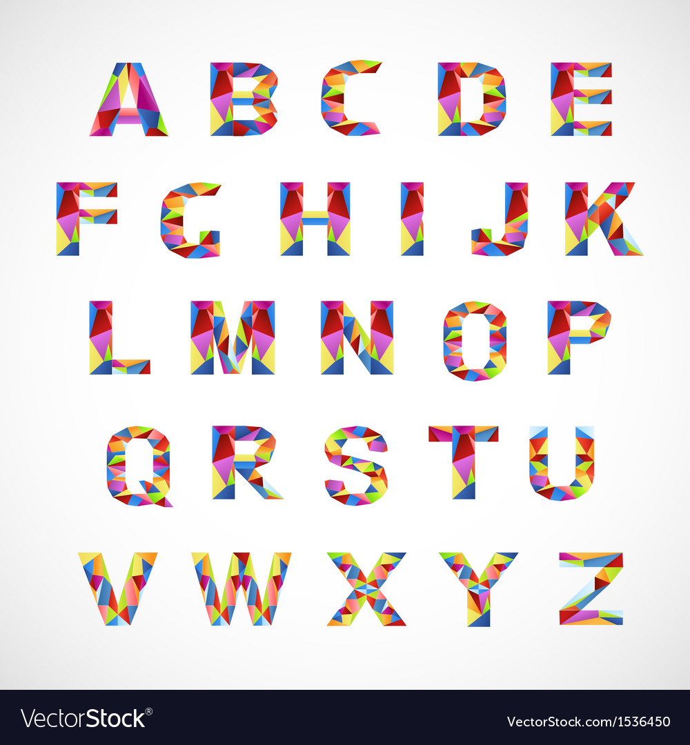 Creative colorful alphabet set vector | Price: 1 Credit (USD $1)