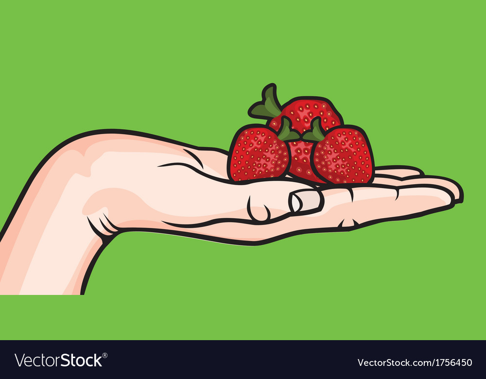 Drzim jagode zeleno resize vector | Price: 1 Credit (USD $1)