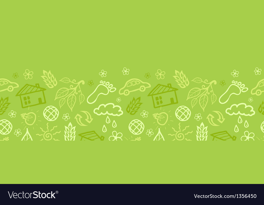 Environmental horizontal seamless pattern vector | Price: 1 Credit (USD $1)
