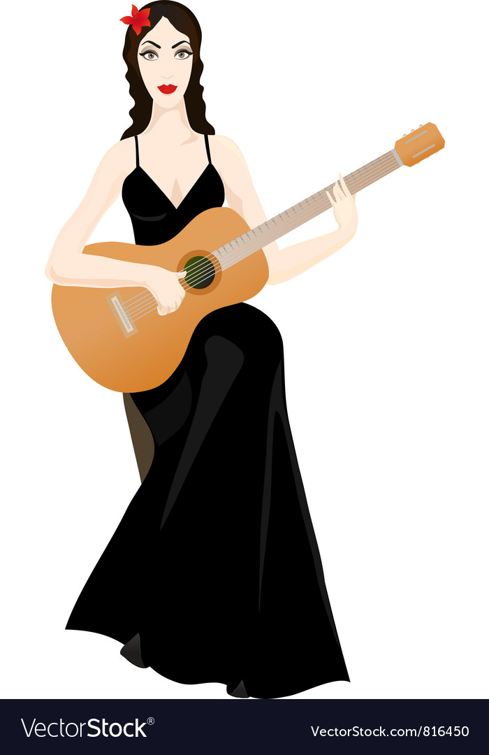 Guitarplayer vector