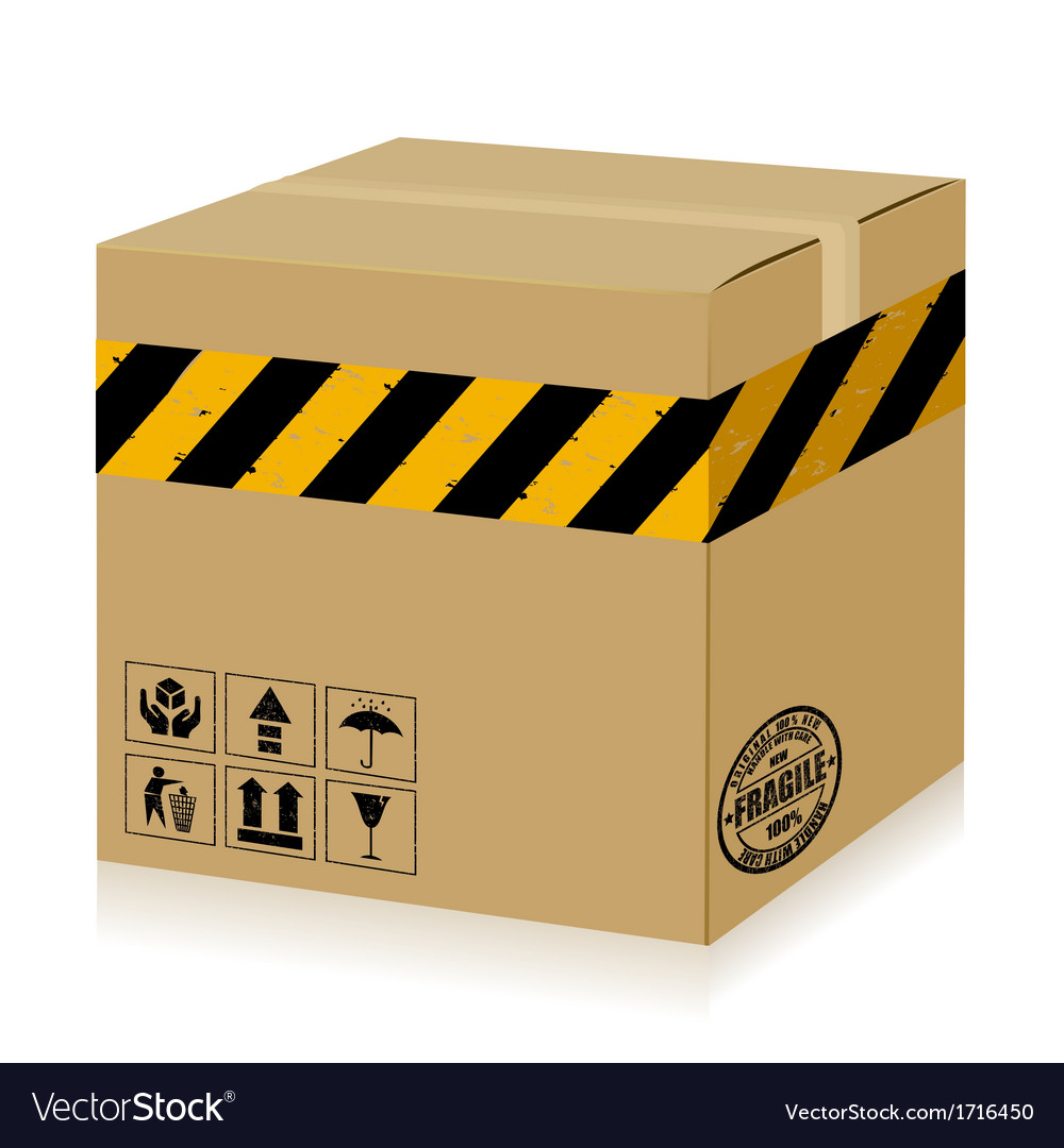 Handle with care box danger vector | Price: 1 Credit (USD $1)