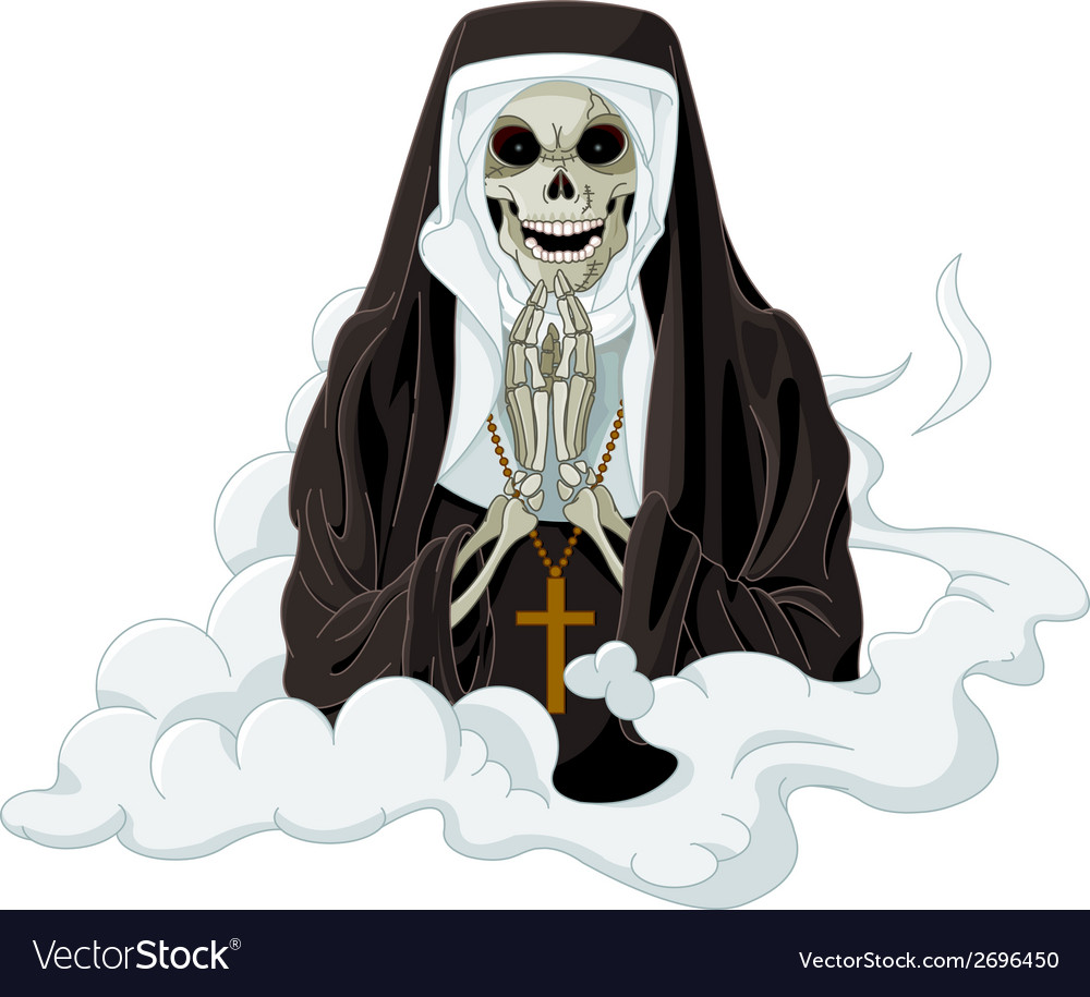 Horror nun vector | Price: 1 Credit (USD $1)