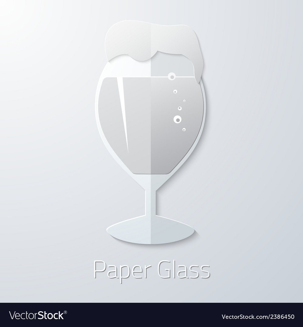 Paper glass of beer flat long shadow icon vector | Price: 1 Credit (USD $1)