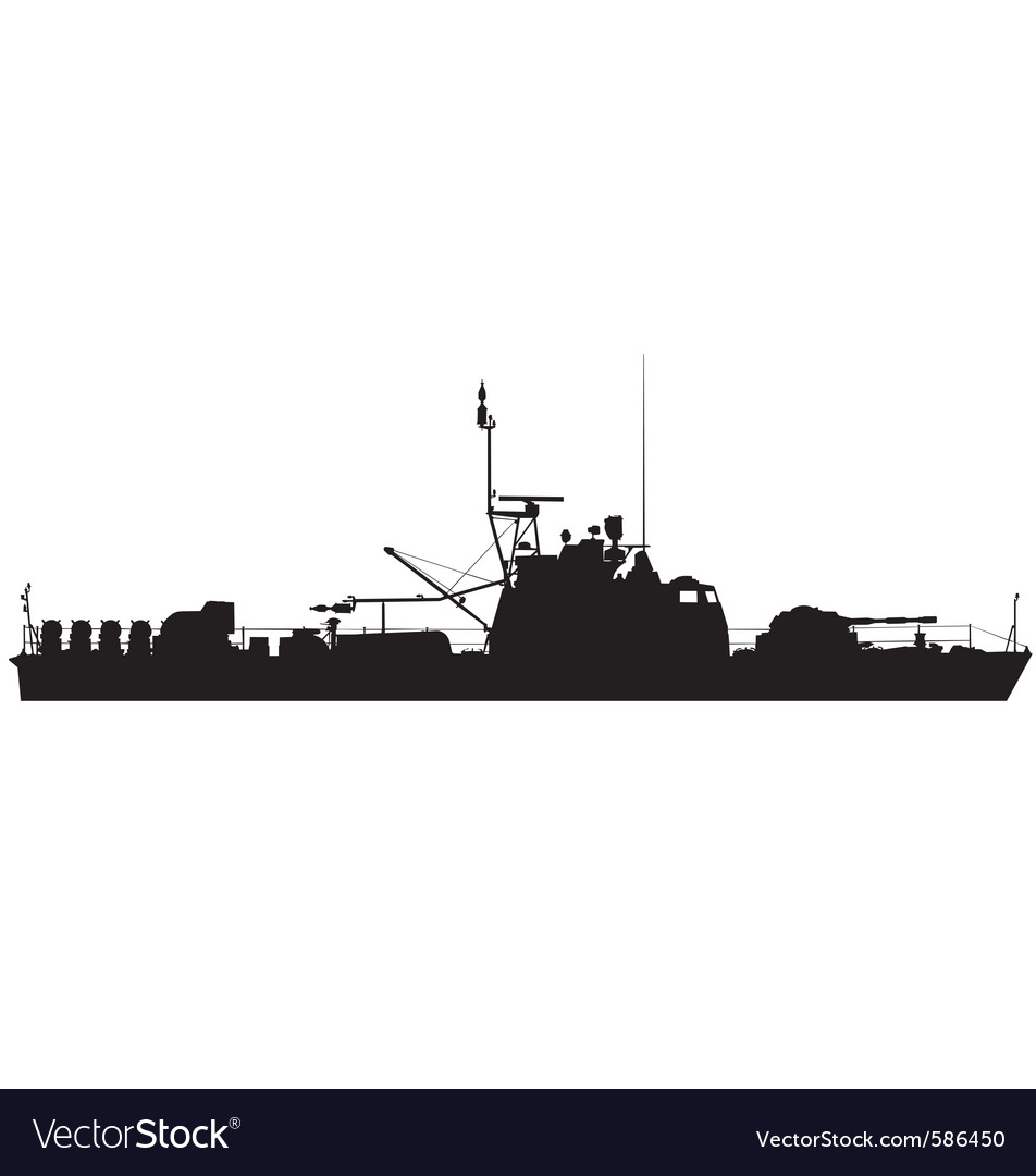 River gunboat silhouette vector | Price: 1 Credit (USD $1)