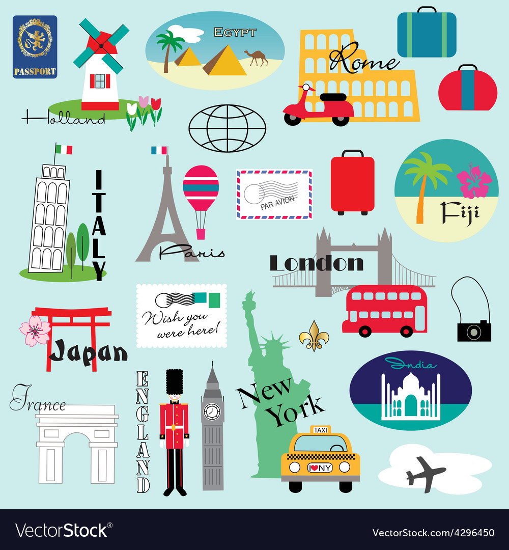 Travel clipart vector | Price: 1 Credit (USD $1)
