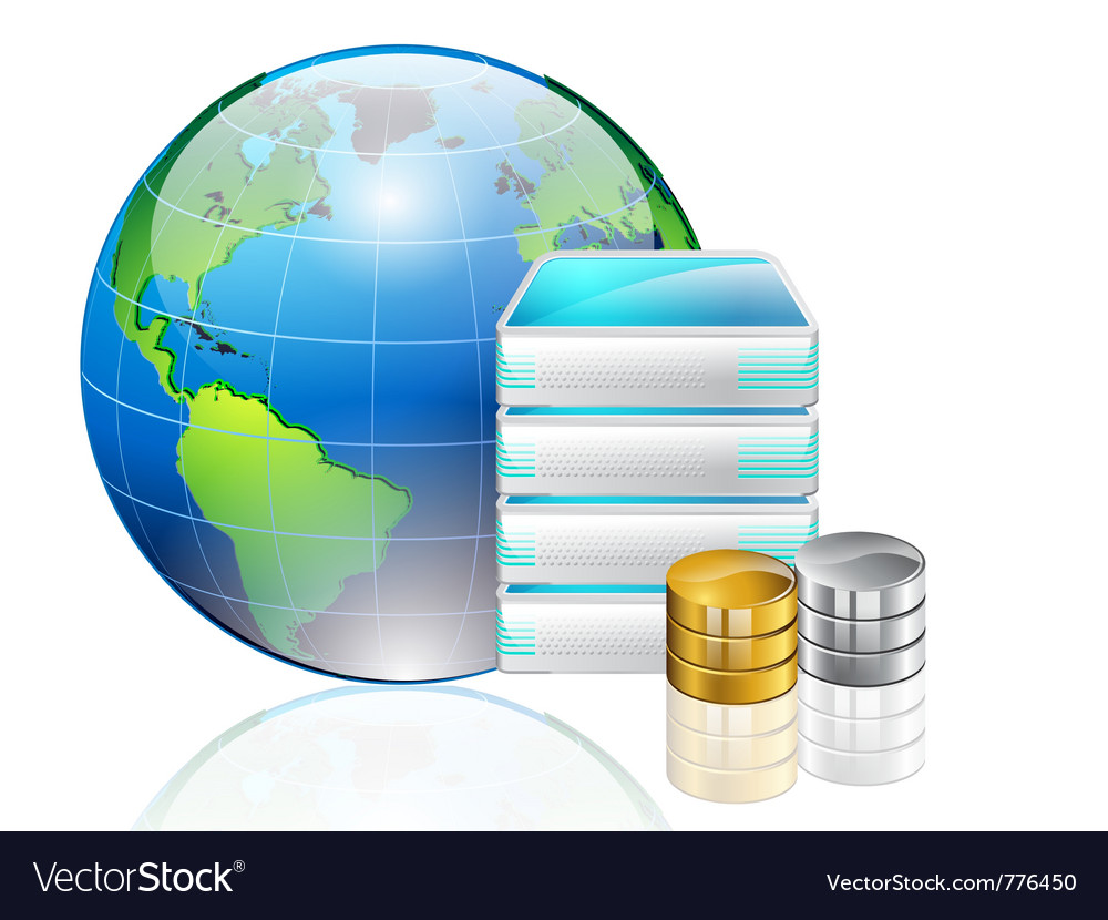 World server and data vector | Price: 3 Credit (USD $3)