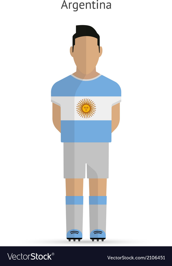 Argentina football player soccer uniform vector | Price: 1 Credit (USD $1)