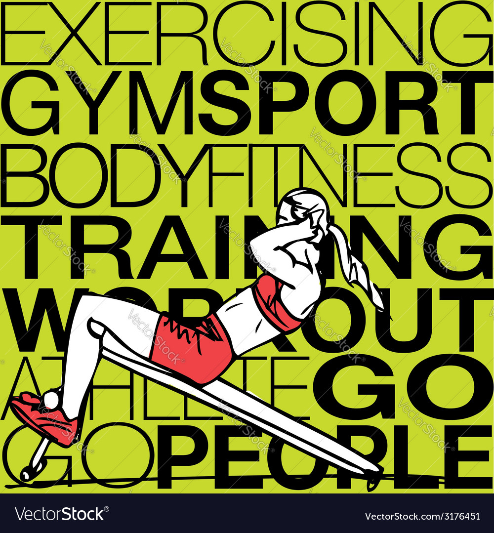 Athletic woman exercising vector | Price: 1 Credit (USD $1)