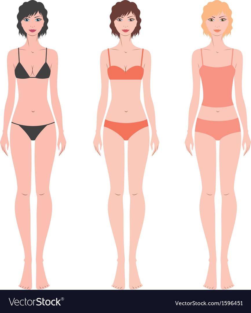 Female figure vector | Price: 1 Credit (USD $1)