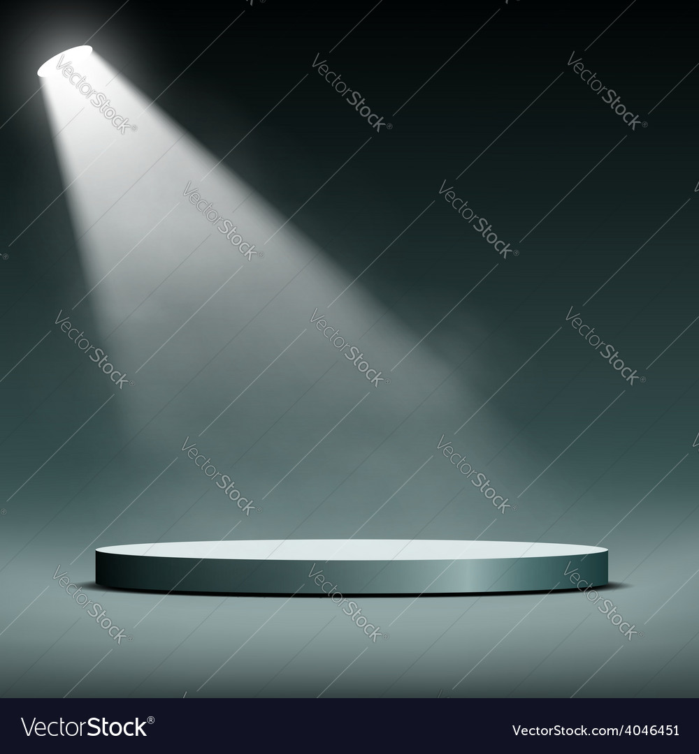 Floodlight illuminates a pedestal for presentation vector | Price: 1 Credit (USD $1)