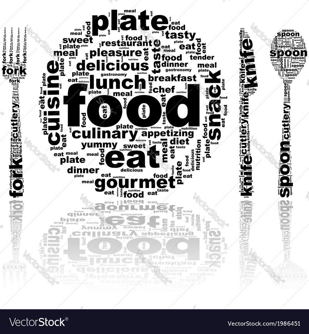 Food word cloud vector | Price: 1 Credit (USD $1)