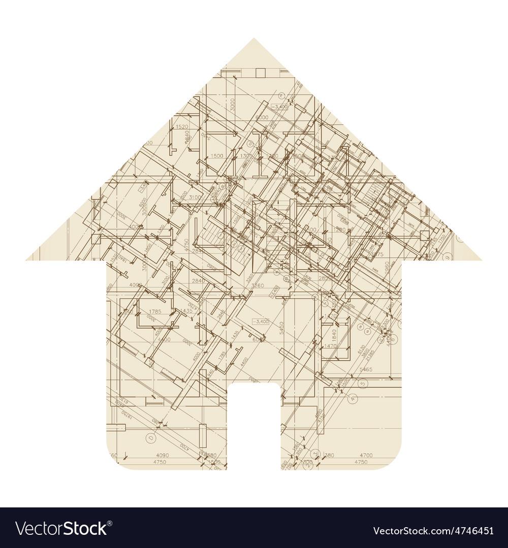 House architecture icon vector | Price: 1 Credit (USD $1)