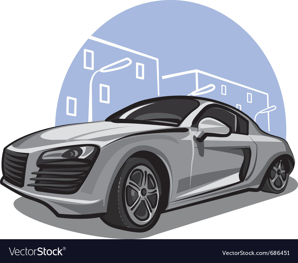 Modern sport car vector | Price: 3 Credit (USD $3)
