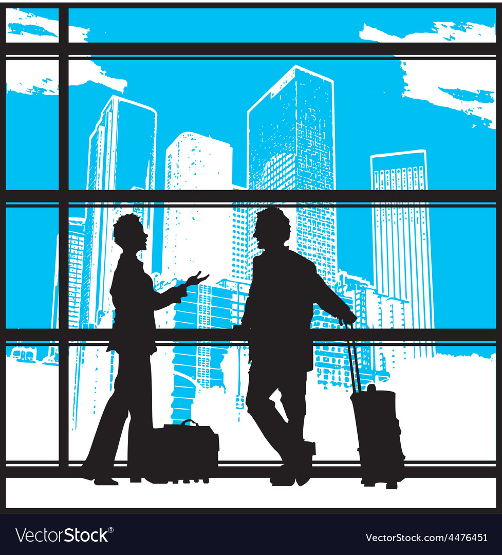 People waiting at airport vector | Price: 1 Credit (USD $1)