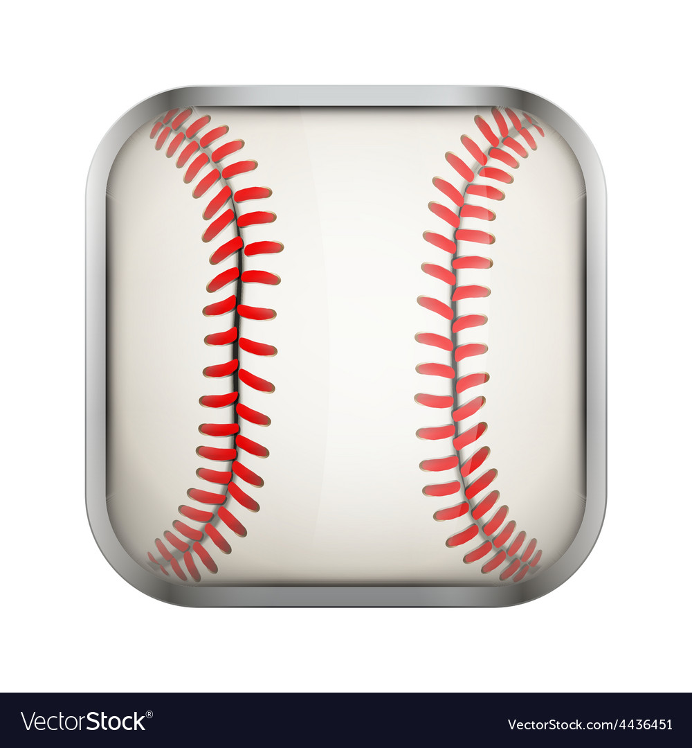 Square icon for baseball app or games vector | Price: 1 Credit (USD $1)