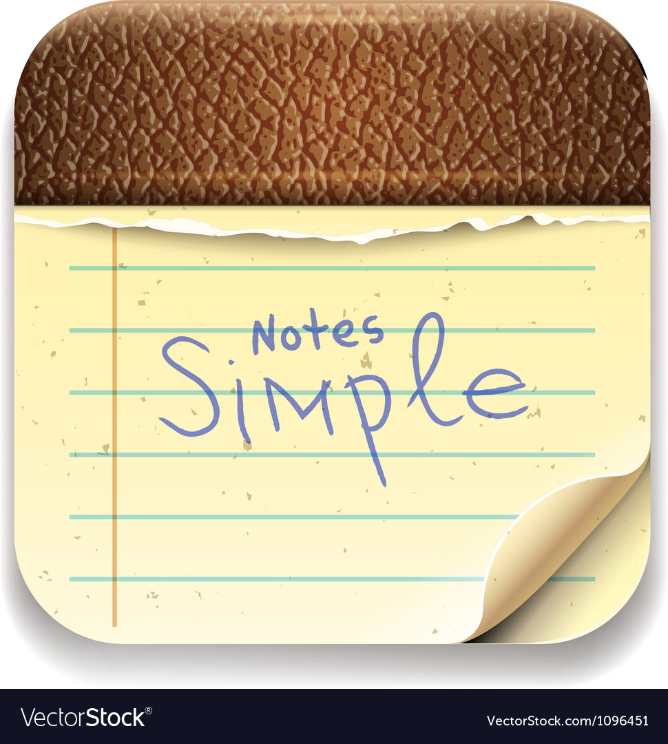 User interface notepad icon eps10 image vector | Price: 3 Credit (USD $3)