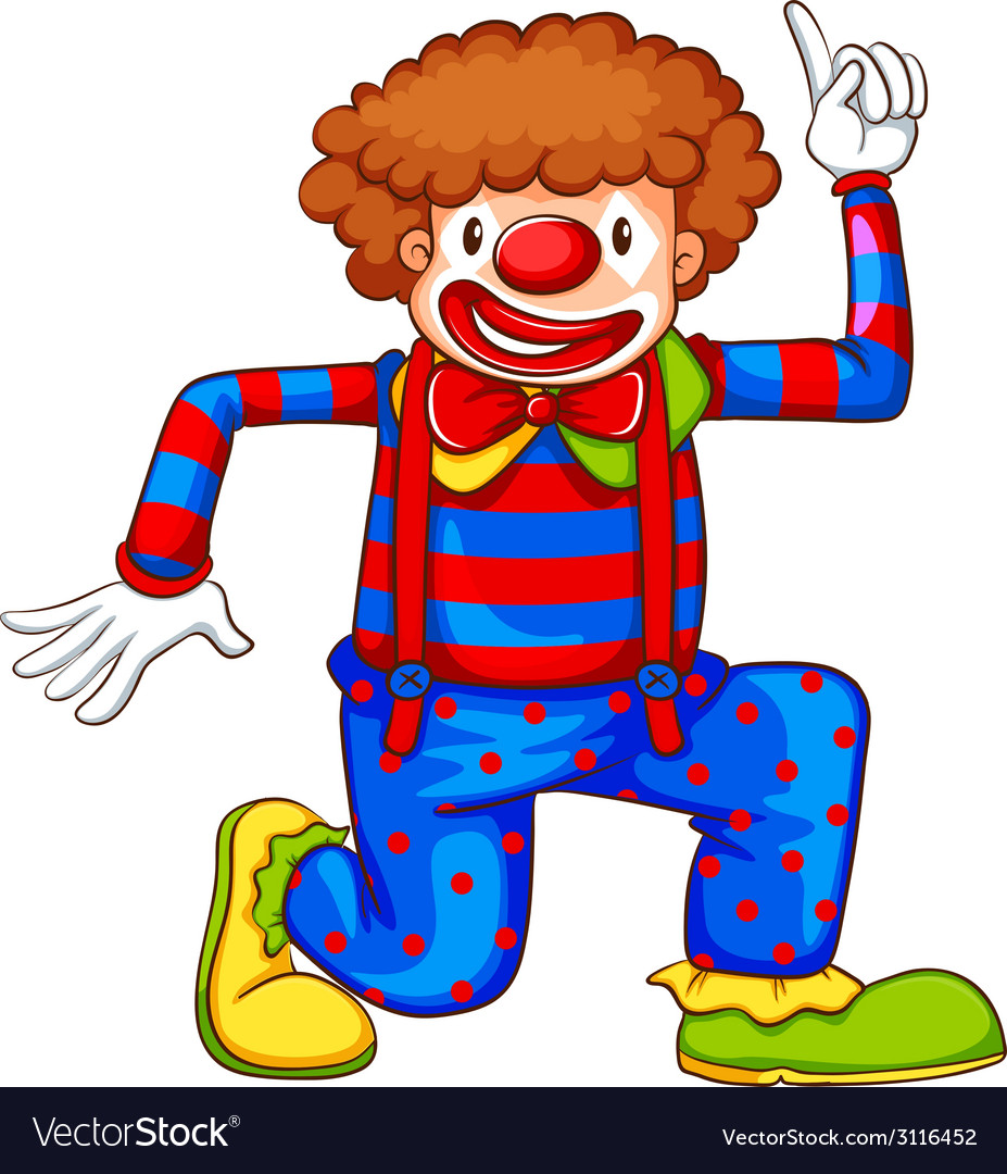 A coloured drawing of a clown vector | Price: 1 Credit (USD $1)