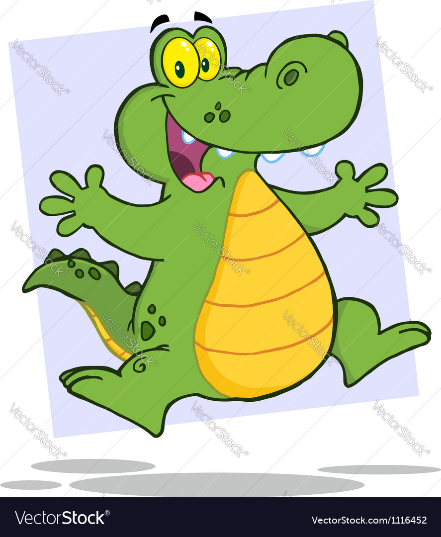 Alligator or crocodile jumping vector | Price: 1 Credit (USD $1)
