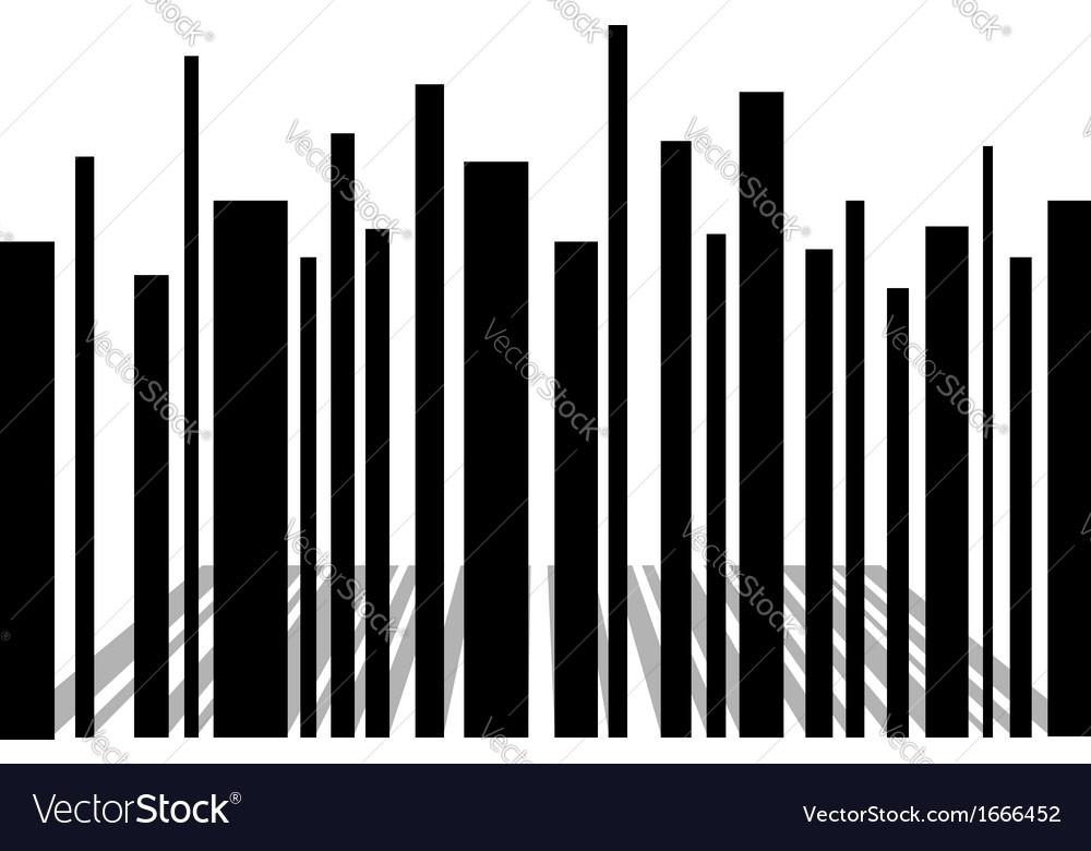 Bar code skyscraper vector | Price: 1 Credit (USD $1)