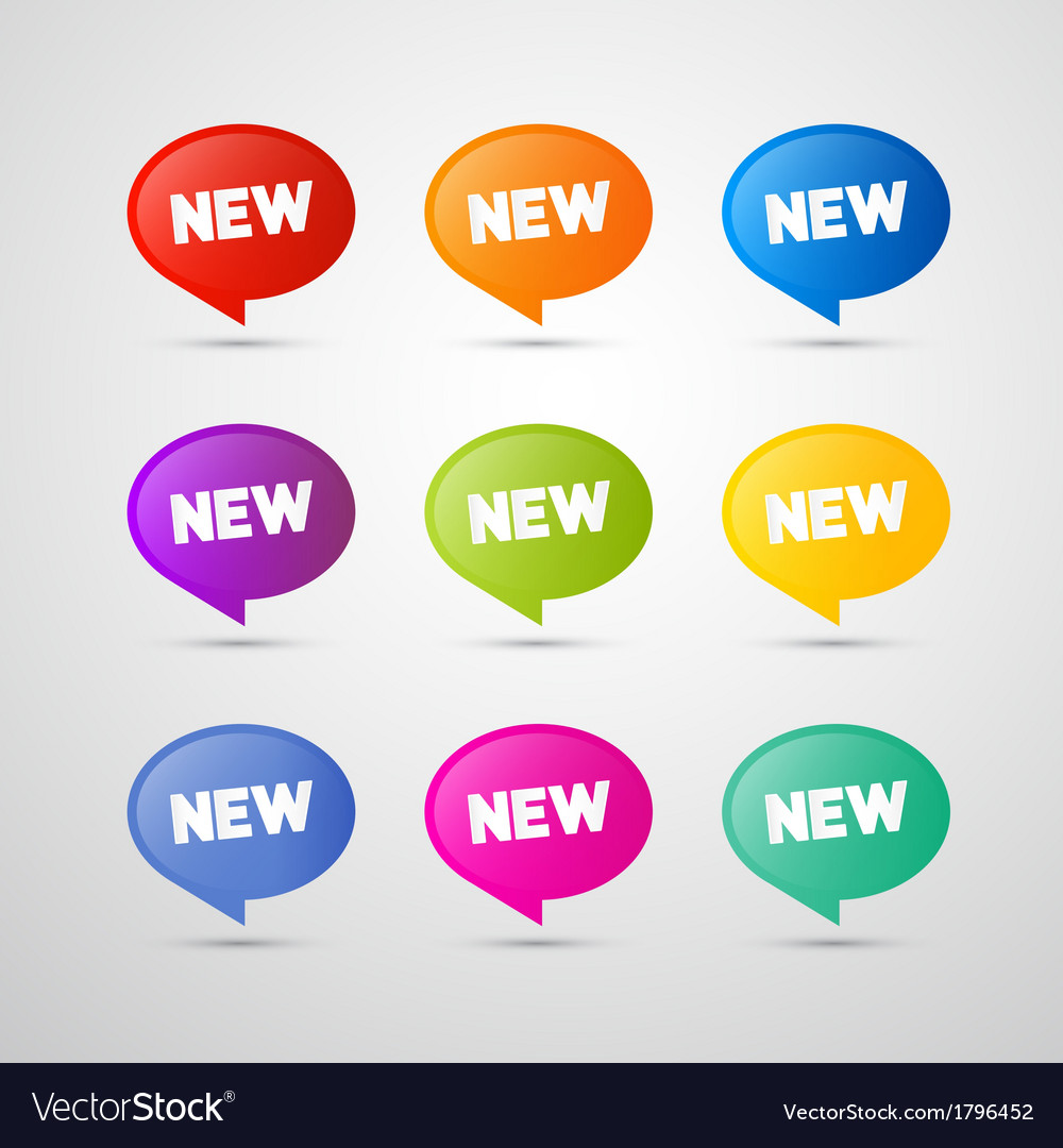 Colorful new labels tags set vector | Price: 1 Credit (USD $1)