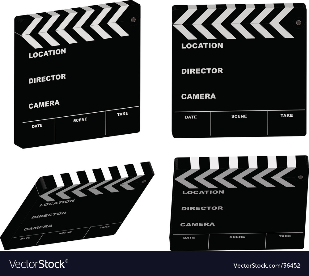 Film clapper variation vector | Price: 1 Credit (USD $1)