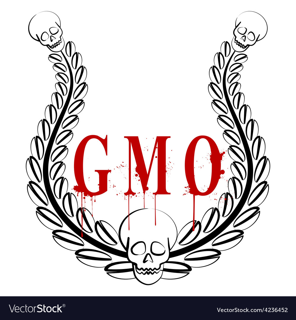 Gmo emblem vector | Price: 1 Credit (USD $1)