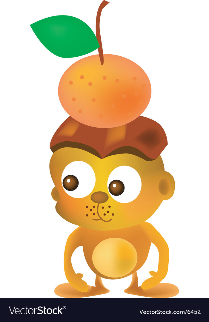 Mandarin monkey vector | Price: 3 Credit (USD $3)