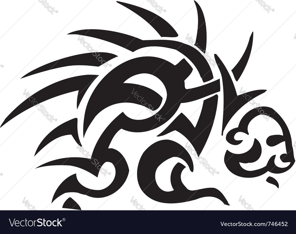 Porcupine in tribal style - vector | Price: 1 Credit (USD $1)