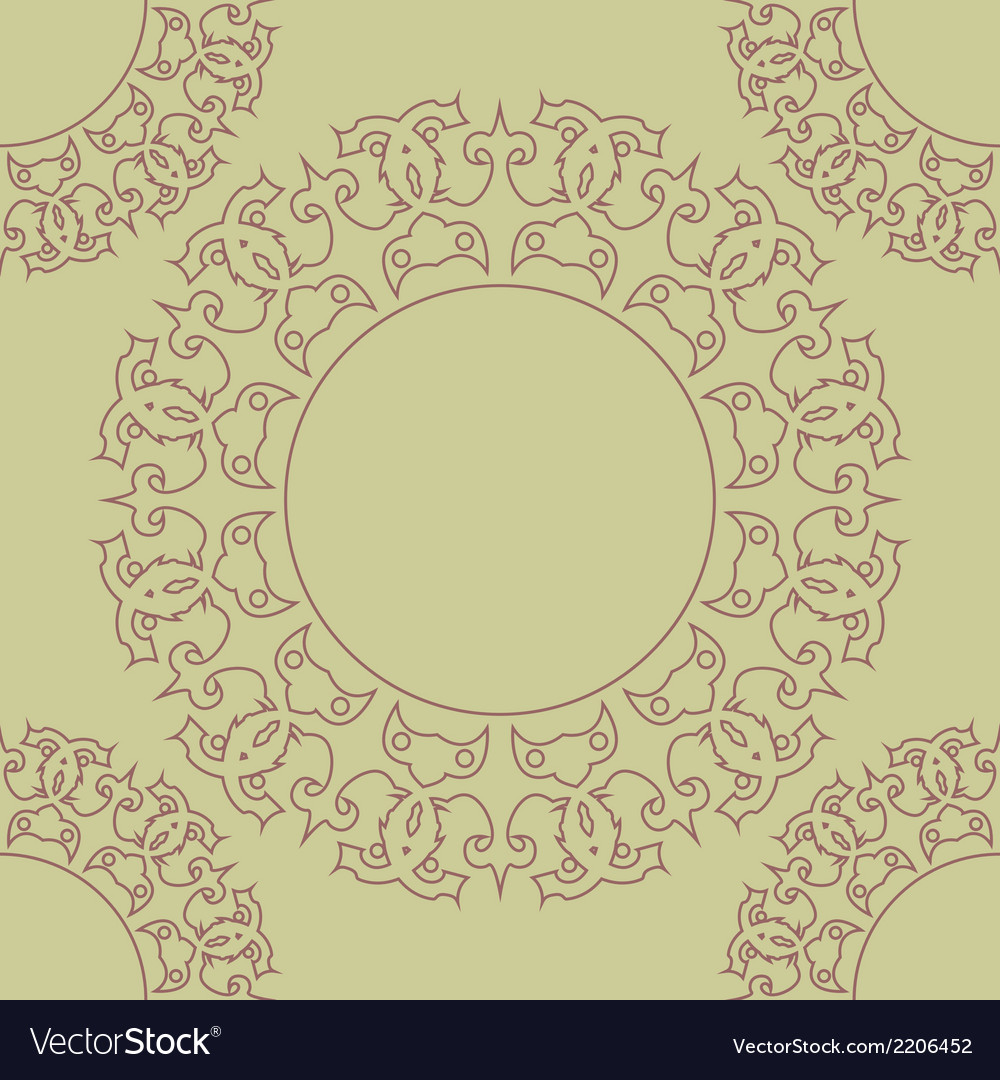 Rosette pattern vector | Price: 1 Credit (USD $1)