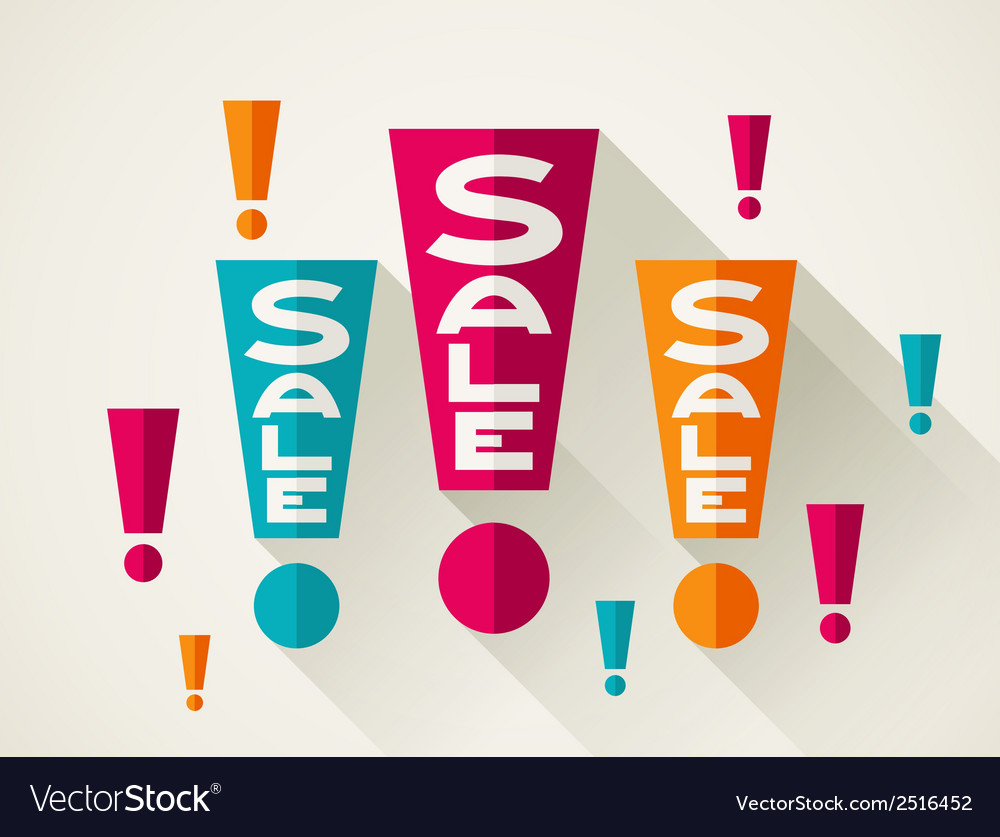 Sale poster background in flat design style vector | Price: 1 Credit (USD $1)