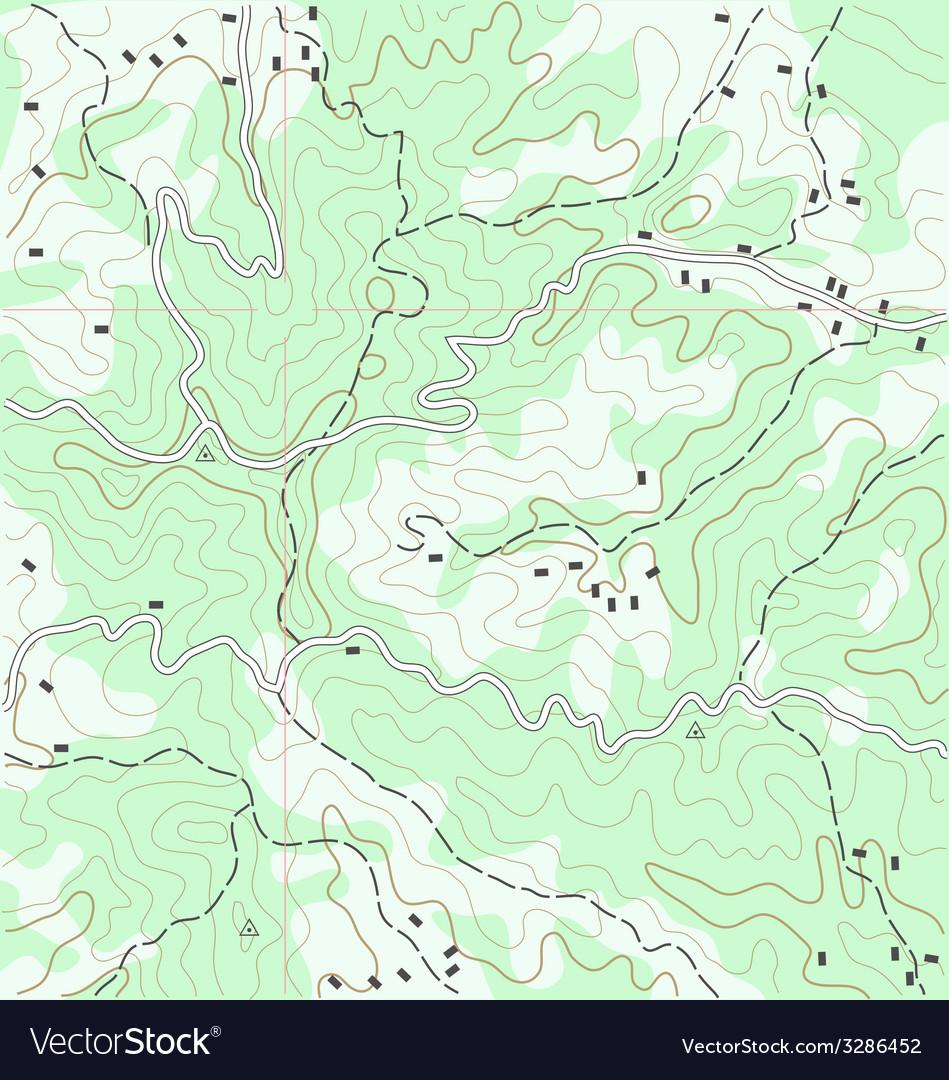 Topographic map vector | Price: 1 Credit (USD $1)