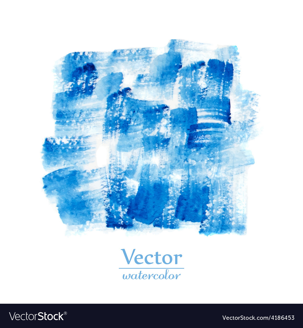 Blue brush smears abstract stylish watercolor vector | Price: 1 Credit (USD $1)
