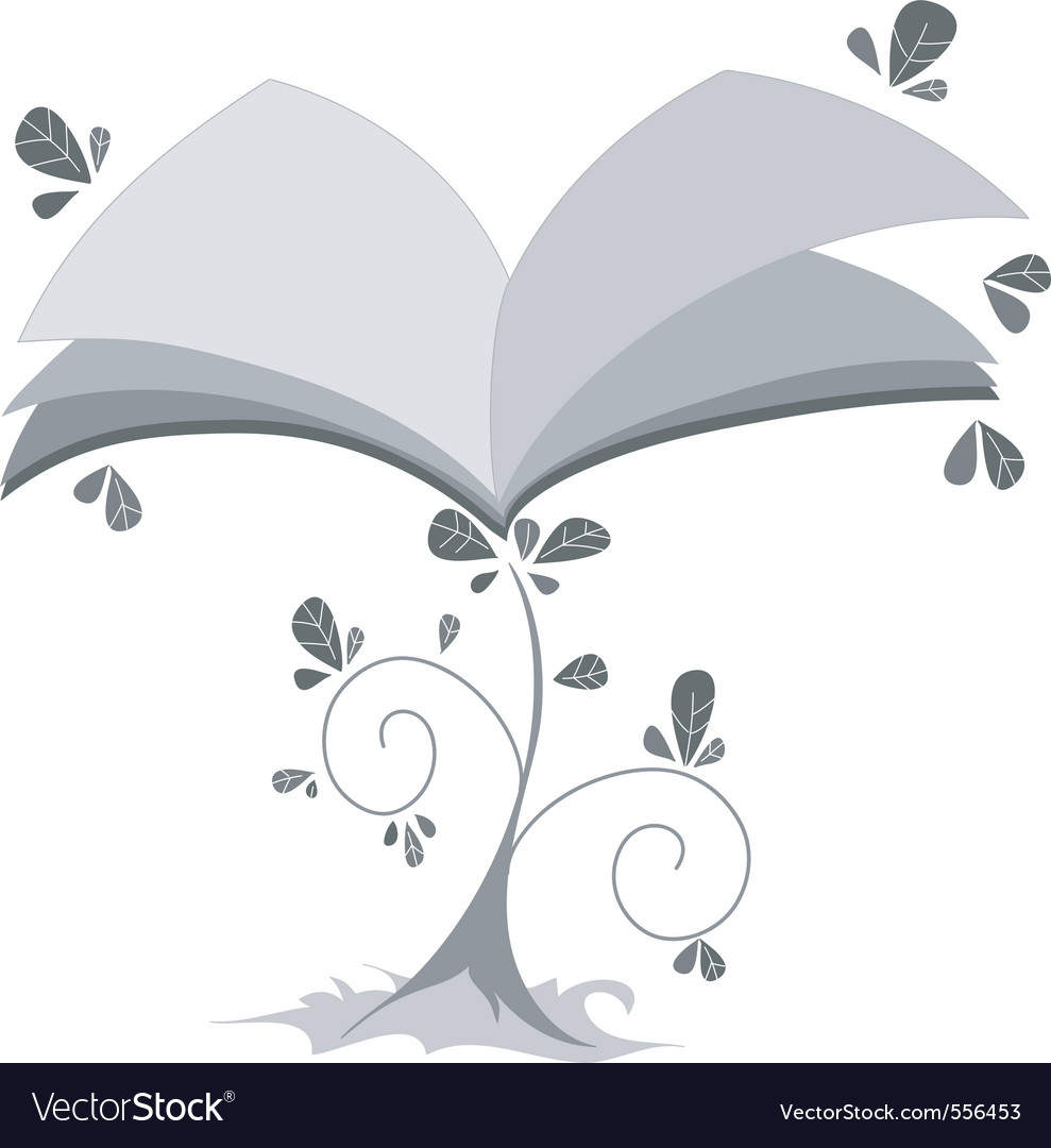 Book plant vector | Price: 1 Credit (USD $1)