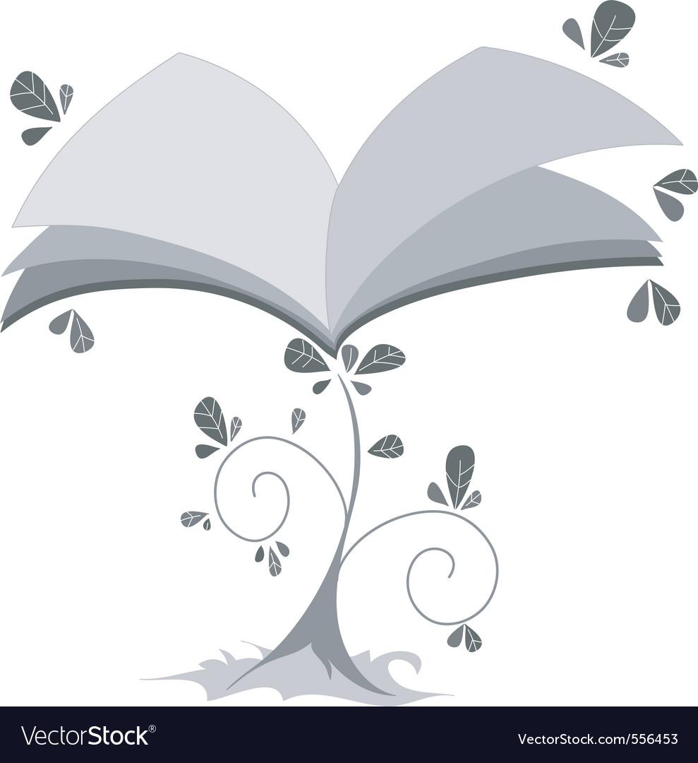 Book plant vector | Price: 1 Credit (USD $1)