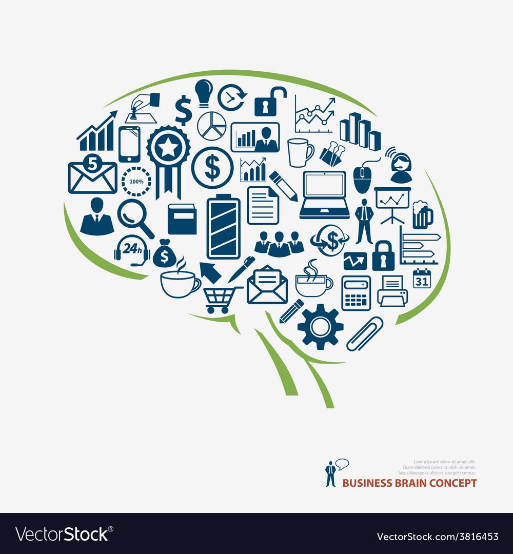 Brain icon business concept vector   Price: 1 Credit (USD $1)