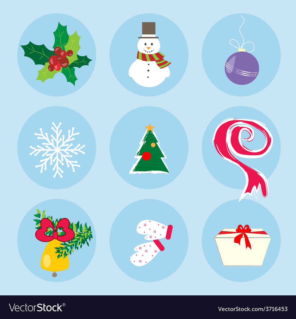 Christmas winter symbols pattern holiday mood vector | Price: 1 Credit (USD $1)