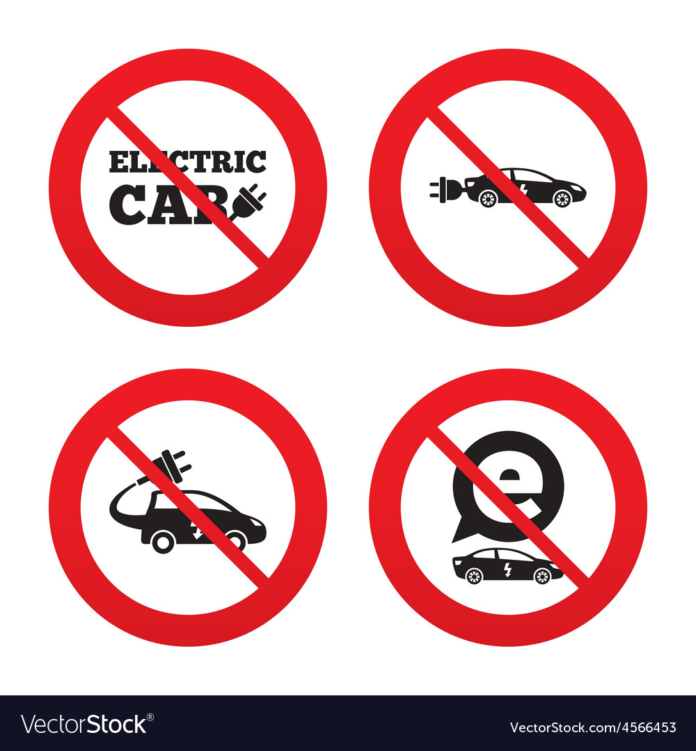 Electric car sign sedan and hatchback transport vector | Price: 1 Credit (USD $1)