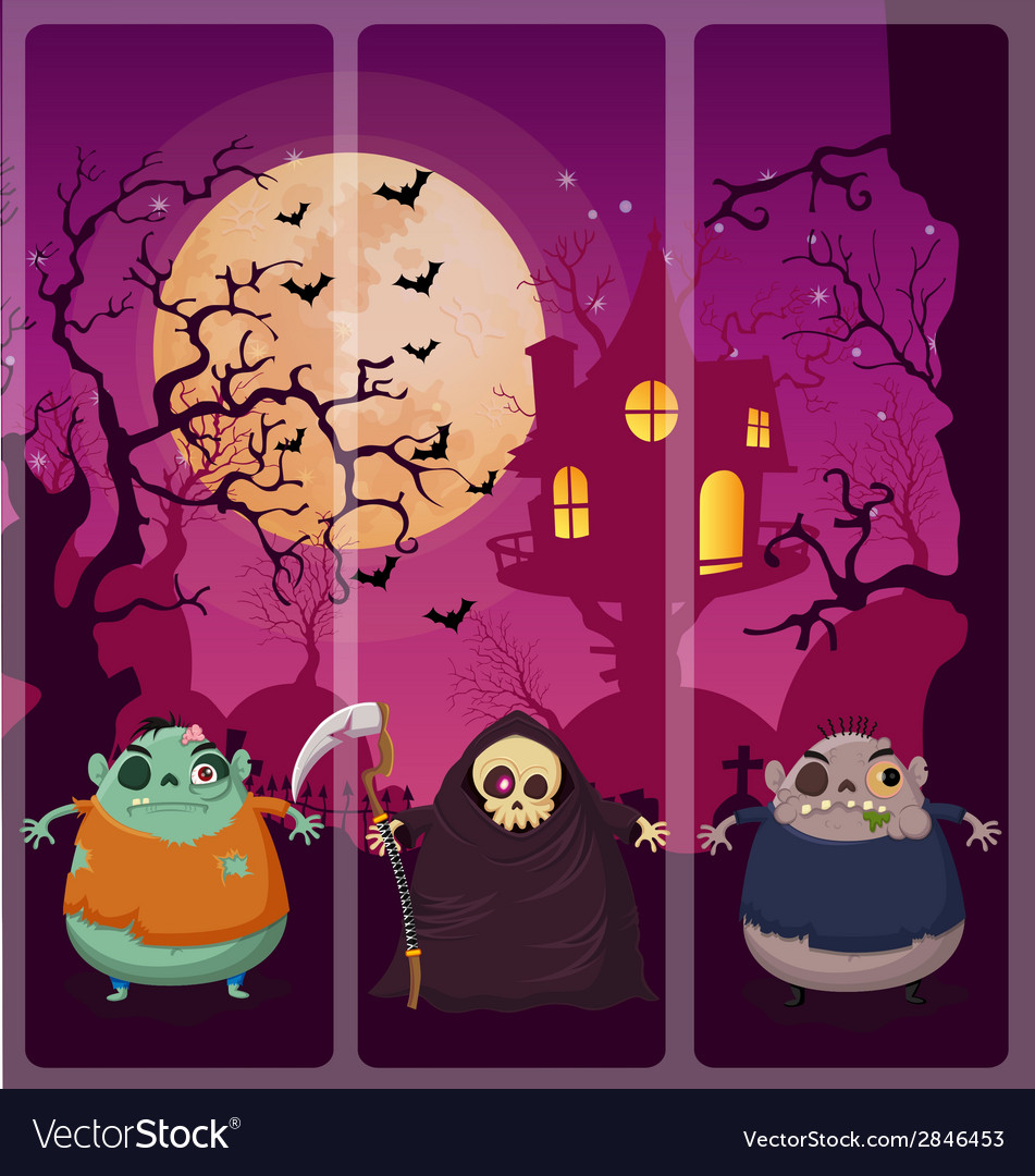 Halloween and background set 5 vector | Price: 1 Credit (USD $1)