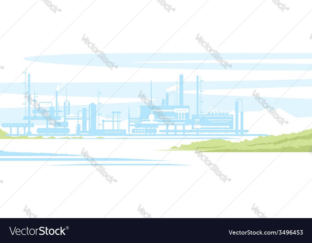 Industrial landscape vector | Price: 1 Credit (USD $1)