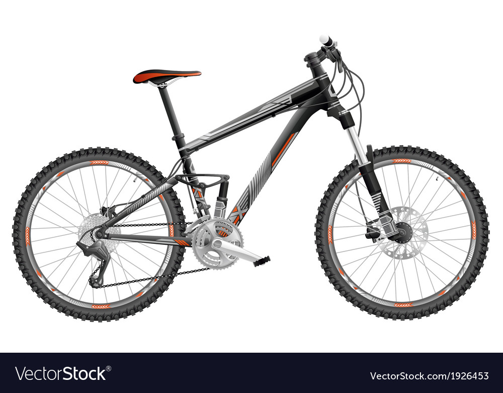 Mountain bike full suspension vector | Price: 1 Credit (USD $1)
