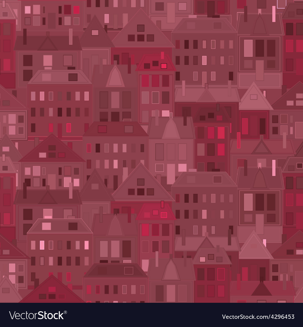 Night city background vintage houses vector | Price: 1 Credit (USD $1)