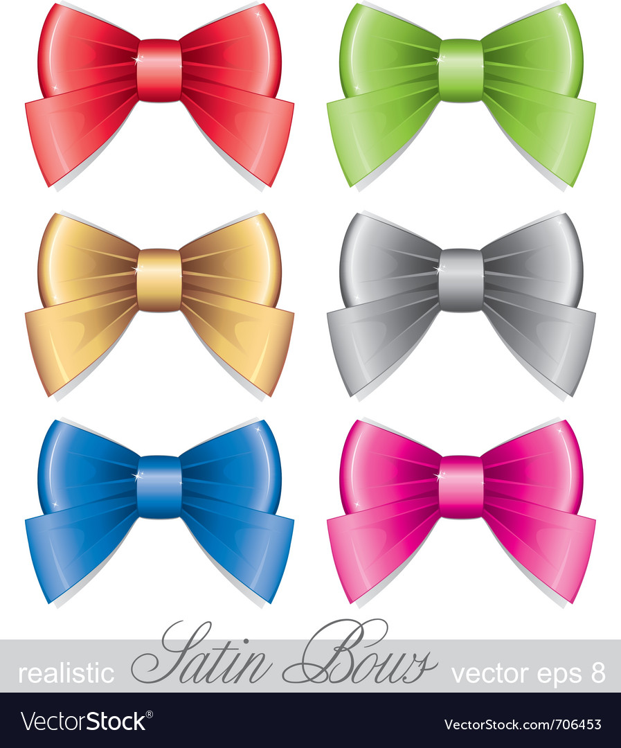 Set of bows vector | Price: 1 Credit (USD $1)