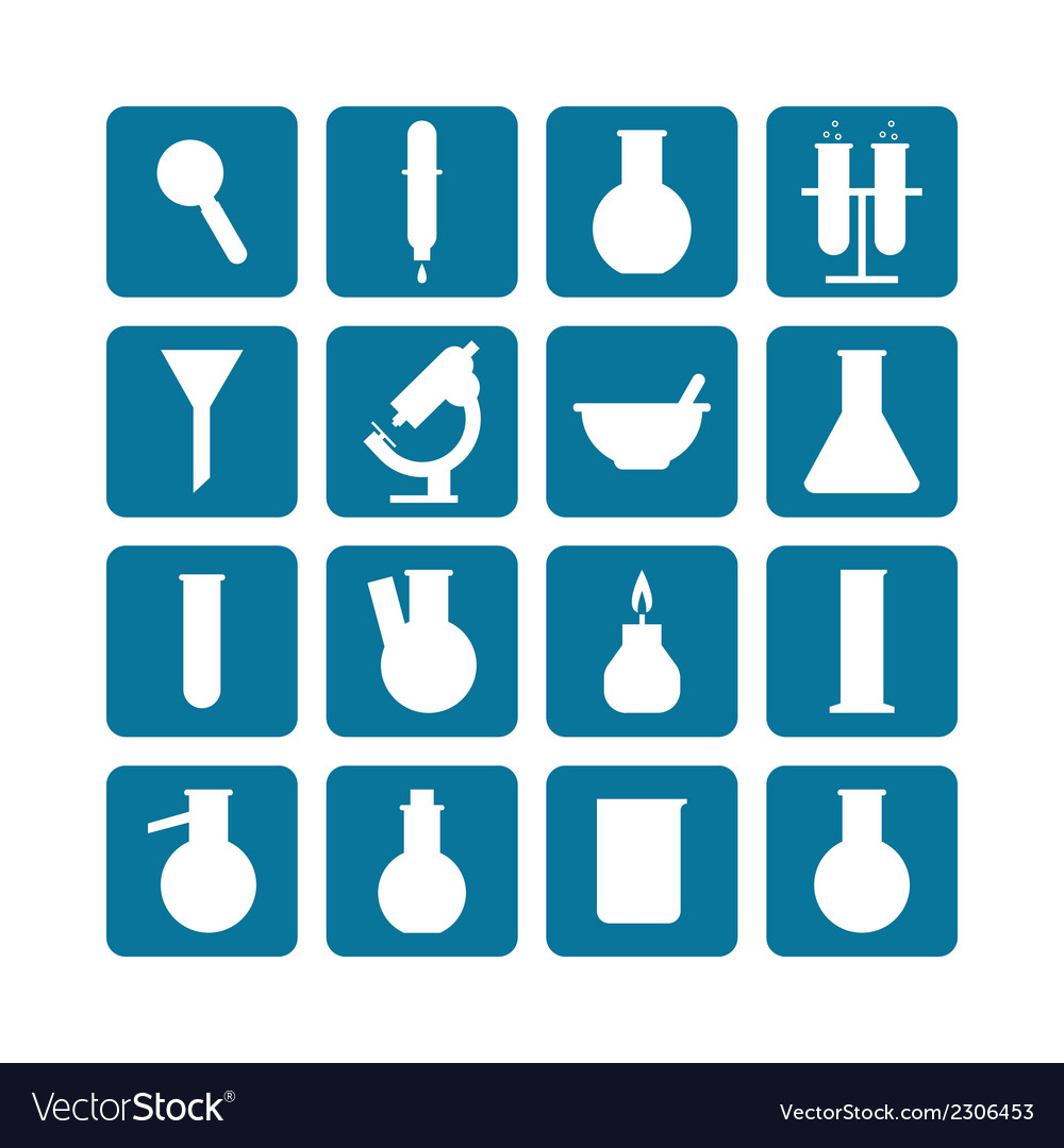 Set of laboratory equipment vector | Price: 1 Credit (USD $1)