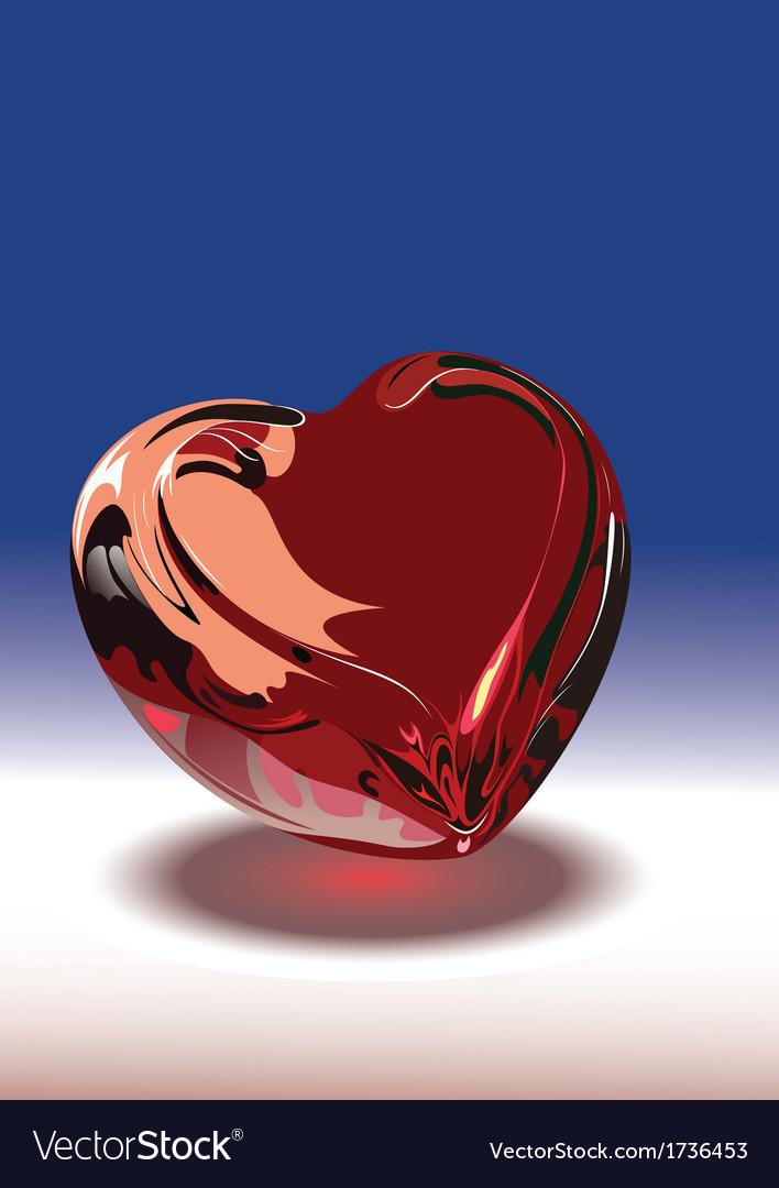 Shiny heart vector | Price: 1 Credit (USD $1)